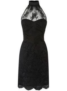 Bqueen Halter Neck Lace Dress K131H,  Dress, Bqueen Halter Neck Lace Dress, Chic