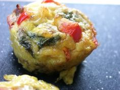 Omelet Muffins - awesome high protein snack. Great idea to remake so e can grab a few for breakfast!