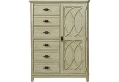 Cindy Crawford Home Sunset Isles Sage Man's Chest at Rooms To Go.