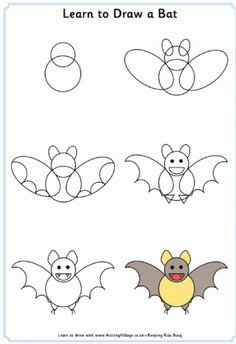 Learn to Draw Animals. Really simple step-by-step instructions, for kids who think they can't draw! From the Activity Village website, which has all sorts of great ideas for keeping them entertained.