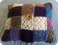 Granny Square Cushion Cover Free Crochet Pattern