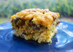Sausage, Egg & Biscuit Breakfast Casserole biscuit casserol, egg caserole, sausag, breakfast biscuits, egg biscuit, biscuit breakfast