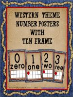 Western Theme Number Posters 0-20 with Ten Frame