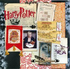 harry potter scrapbooking, harri potter, scrapbooks, thing harri, scrapbook idea, scrapbook pages, paper crafts, scrap book, harry potter scrapbook layouts