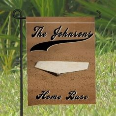 Garden Flags - Yard Flags with Baseball Theme personalized