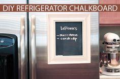Easy DIY framed refrigerator chalkboard