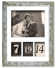 Wedding Date Frame #dyi #weddinggift #photo #craft #memories #pictures #love
