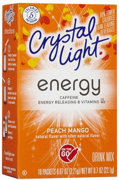 Crystal Light Energy On The Go-LOVE this stuff!  Gets me going!!