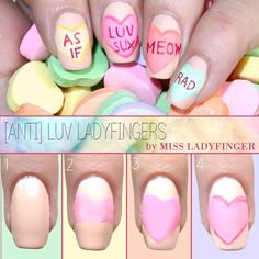 Anti-Luv Valentines Day Nails
