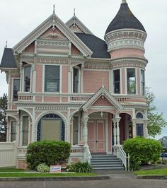 the doors, pink ladies, pink houses, homes, dream houses, paint ladi, mansions, victorian houses, wedding gifts