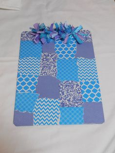 Blue and Purple Clipboard by designsbyshelby on Etsy