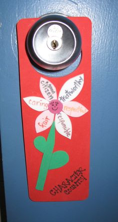 A Six Pillar flower on a door hanger!