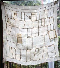 Antique Korean Textile Asa Wrapping Cloth Pojagi