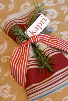 Rosemary napkin rings...