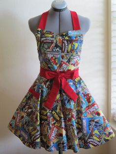 Limited Edition Sweetheart Hostess Apron  Marvel by AquamarCouture, $37.00