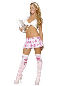 Sorority School Girl Costume, Sexy Sorority Girl Oufit #schoolgirl #sexyschoolgirl #schoolgirluniform #schoolgirlcostume #halloweencostume #plaidskirt #miniskirt