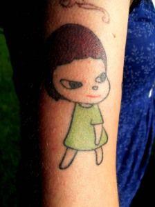 Yoshitomo Nara tattoo