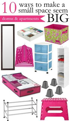 College Prep: Apartment Guide | Make a Small Space Seem BIG small apartments, apart guid, colleg prep, tiny apartments, bedroom organization, small spaces, college dorm rooms, college dorms, girl rooms