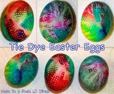 Tie Dye Easter Eggs - these were my FAVORITE of all the eggs we dyed. So colorful & fun!