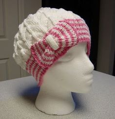 Kims Knitting Korner: Cutest Hat... EVER! Bow Tie Cloche/Chemo Cap