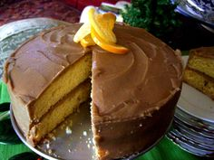 Southern Caramel Cake with Peach Conserve