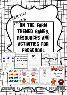 I have created an 'on the farm' themed resource pack for preschool children in the EYFS. This usually consists of children up to the age of five, but some of these activities will be suitable for older children. These on the farm resources include worksheets, print and play games and activity planners. There are over 100 pages in this pack, and it is for sale for only £1.00