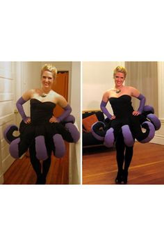 Ursula costume! Style DIY costumes with this super fun, easy tool (WiShi). It's a styling website where you style people's real clothing in their virtual closets. #Fashion #Style #Costume #Halloween #DIY Connect via Facebook for free in seconds. ♥