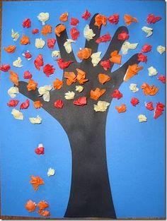 Tissue paper fall tree...