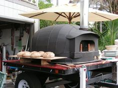 Painted Wood Fired Oven
