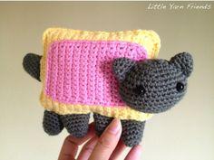 Nyan cat, found on : http://littleyarnfriends.tumblr.com/post/22577724491/crochet-pattern-nyan-cat