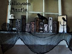 Halloween Mantle Inspired by Edgar Allen Poe's The Raven