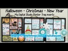 www.PattyStamps.com - video tutorial to assemble your Halloween, Christmas & New Year's MDS Printer Tray kit inserts & paper medallion