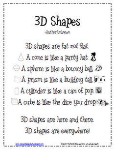 3D Shapes Poem (done)
