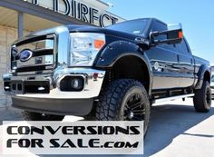 2011 Ford Super Duty F-250 Diesel Lariat Crew Cab 4WD Lifted Truck