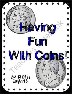 Having Fun With Counting Coins! from 1st Grade is Easy Peesy! on TeachersNotebook.com -  (10 pages)  - money, counting coins