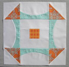"""""Curve it up"" Churn Dash ~ Block #1 ""  Tutorial how to make the block pictured."