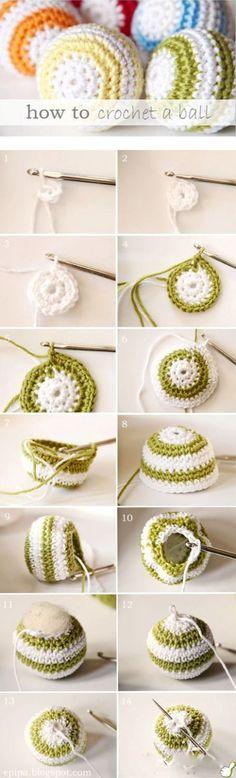 DIY Crochet Ball diy crochet craft crafts easy crafts craft idea diy ideas home diy easy diy home crafts diy craft crochet crafts diy crocheting