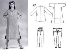 Salwar kameez sewing pattern