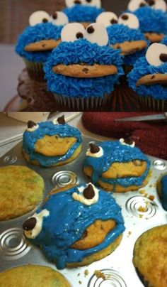 cookie monster birthday, cupcak, cookie monster, craft, bee, mothers day ideas, funni, expectation vs reality, kid