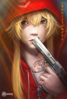yakuza girl, tattoo girl, artist imageri