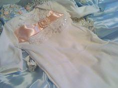 Newborn Girls Layette gown sleeper coming home outfit Newborn thru 3 months. $35.00, via Etsy.