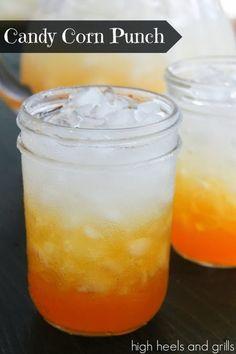 High Heels & Grills: Candy Corn Punch..1/3 part Crush orange soda 1/3 part yellow Gatorade 1/3 part zero calorie lemonade Vitamin Water