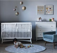 muted gray nursery