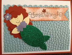 Mermaid Card - Punch Art by allisonnolan - Cards and Paper Crafts at Splitcoaststampers