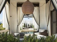 Moroccan style tented patio.