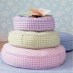 sweet round gingham cushions
