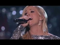 """""""How Great Thou Art"""" sung by Carrie Underwood with Vince Gill. Very moving. Standing Ovation!"""