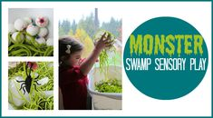 Monster swamp sensory play from PBS parents