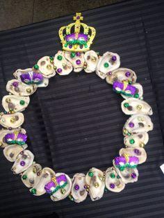 Mardi Gras Oyster Wreath by RheaKesslerDesigns on Etsy.....love this
