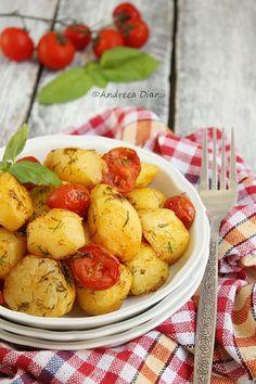 Cartofi noi la cuptor | Pasiune pentru bucatarie